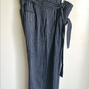 point sur Pants - Point Sur B And W Stripes Stove Pipe Pants Size 16
